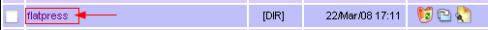 Flatpress Folder