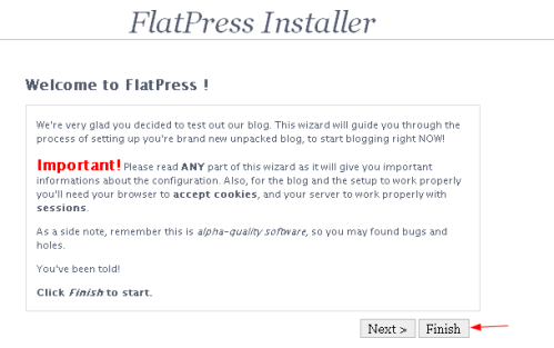 Flatpress Installation