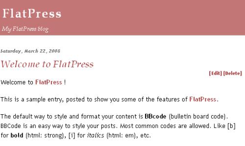 Flatpress Home Page
